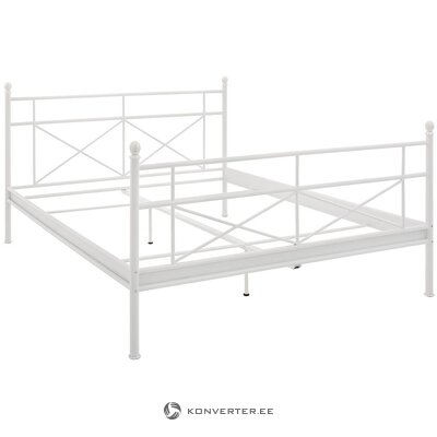 White metal bed (thora) (90x200cm). (whole, in a box)