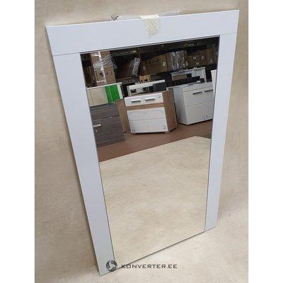 Valkoinen kiiltävä peili (kokonainen, näytehalli)