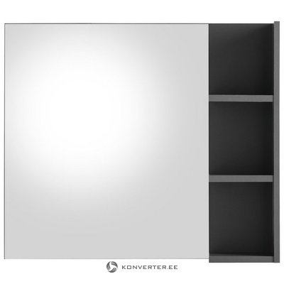Gray wall mirror with 3 shelves (beach) (whole, sample hall)