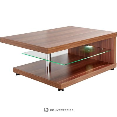 Dark brown coffee table (muscle) (with beauty defects, in box)