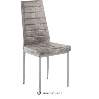 Set of small light gray dining table (lynn) + 4 light gray anthracite chairs (cover)