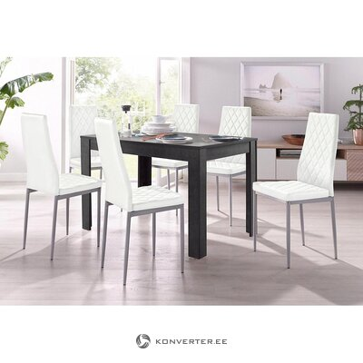 Black dining table (lynn)