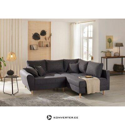 Antracīta stūra dīvāns (Ricco) (boksēts, vesels)