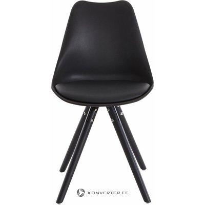Pilka plastikinė kėdė