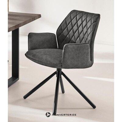 Кресло из кожи антрацитового цвета (preston) (целое образец холла)