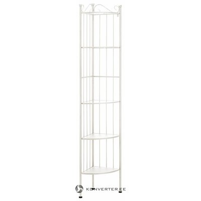 Metal corner shelf with 2 glass shelves (princess) (healthy, white, in a box)