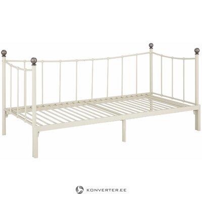 Beige ontaitettava sänky metallia 90-180cm x 206cm