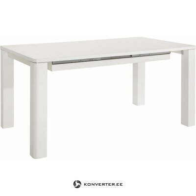 White extendable dining table (curt) (severely defective hall sample)