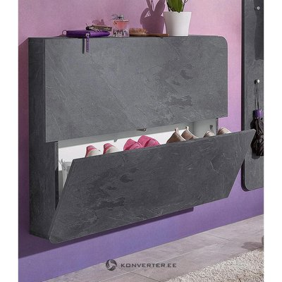Gray Footwear Cabinet (holds 8 pairs of shoes)