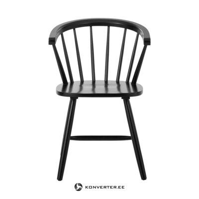 Rubber wooden black chair (jella & jorg)