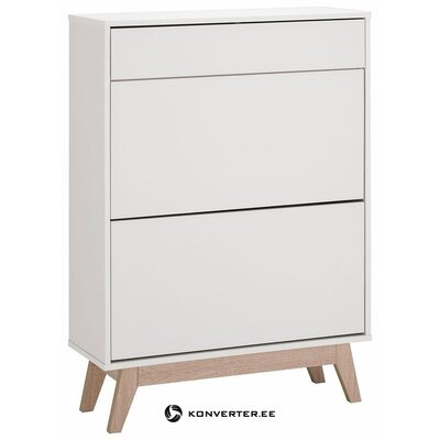 White shoe cabinet with drawer and 2 doors (whole, in a box)
