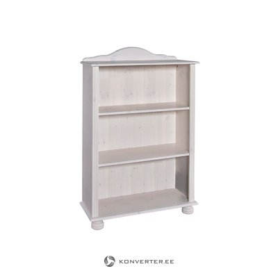 Элла книжный шкаф низкий белый лак