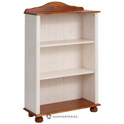 Ella Bookcase low white/honey lacquer