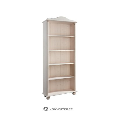 Ella Bookcase high white lacquer