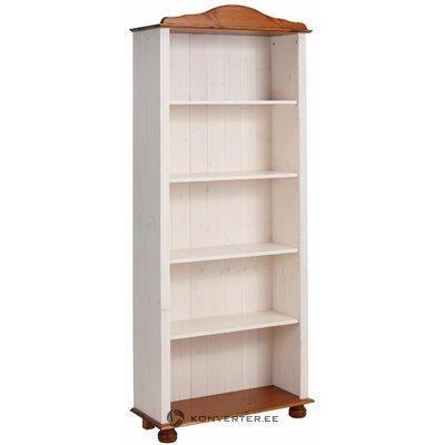 Ella Bookcase high white/honey lacquer