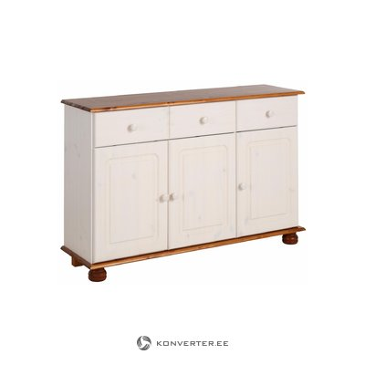 Ella Sideboard 3 doors/2 drawers white/honey lacquer