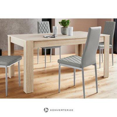 Стол обеденный светло-коричневый (160см) (линн)