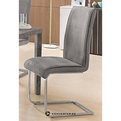 Gray soft chair with metal frame (malou) (whole, hall sample)