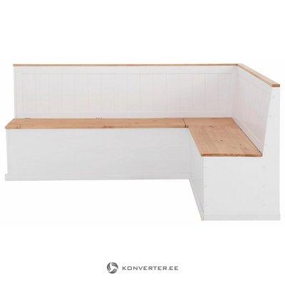 Valge-Pruun Täispuit Nurgapink (200x160cm) (Iluvigadega)