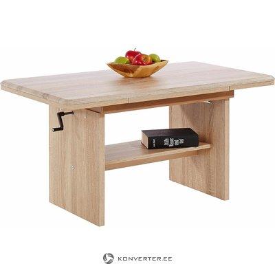 Светло-коричневый регулируемый по высоте журнальный столик (в коробке, весь)