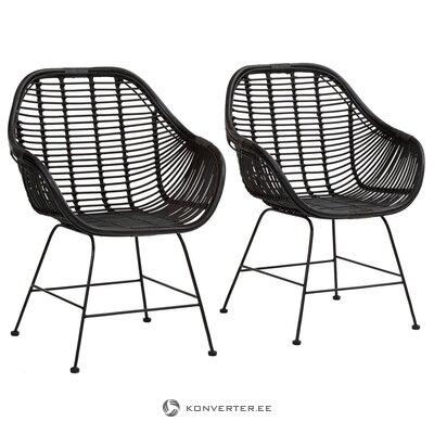 Juodojo rotango tinklinis fotelis (wodanas) (defektas salės pavyzdys)