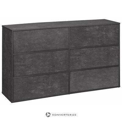 Gray-black chest of drawers (lewis)