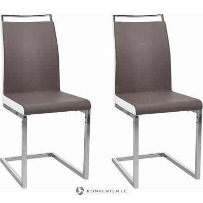 Gray-white metal feet chair