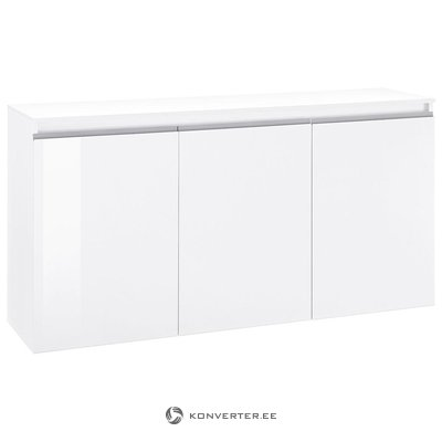 White high gloss chest of drawers (with bugs)