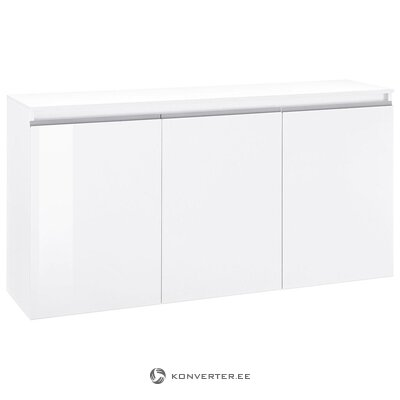 White high gloss chest of drawers (with defects in the box)