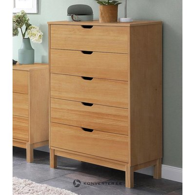 Brown chest of drawers with 5 drawers (post) (in box, whole)