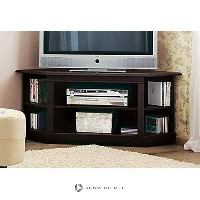 Black TV cabinet (skagen) (whole, hall sample)