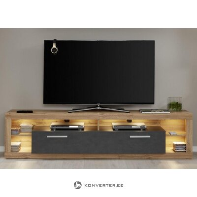 Brown-gray wide tv cabinet (rock) (hall sample, with beauty errors!)
