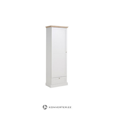 Bruce Wardrobe 1 door White/Oak 3 Doors