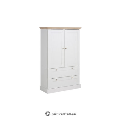 Bruce Laundry Cabinet 2 Drawers white/Oak 3 Doors