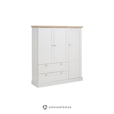 Bruce Laundry Cabinet 3 Drawers white/Oak 3 Doors