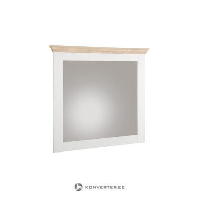 Брюс зеркало белое / дуб 3 двери