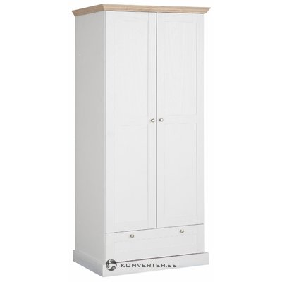 Bruce Wardrobe 2 doors/1 drawer White/Oak 3 Doors