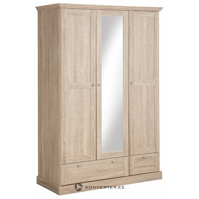 Bruce Wardrobe 3 doors/2 drawers Oak 3 Doors