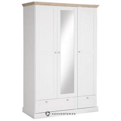 Bruce Wardrobe 3 doors/2 drawers White/Oak 3 Doors