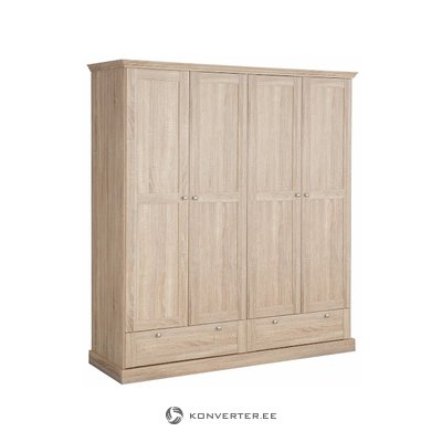 Bruce Wardrobe 4 doors/2 drawers Oak 3 Doors