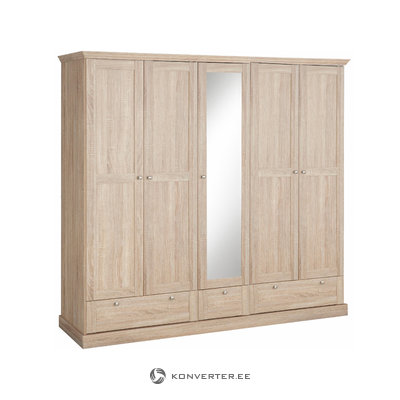 Bruce Wardrobe 5 doors/3 drawers Oak 3 Doors