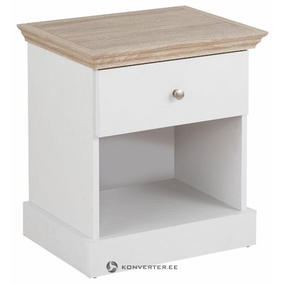 Bruce Nightstand White/Oak 3 Doors