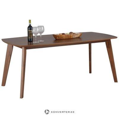 Tummanruskea soikea ruokapöytä (sedona) (kokonainen, laatikossa)