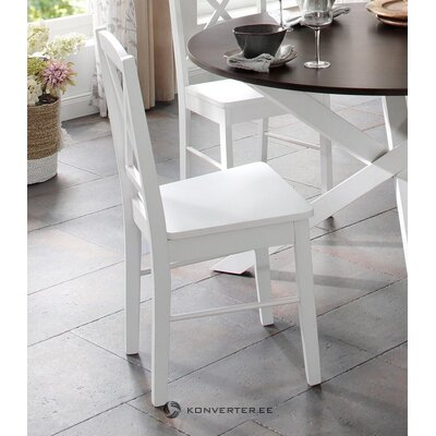 White solid wood chair (sonoma)
