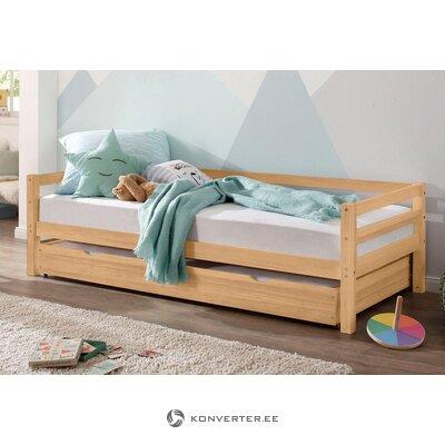 Masīvkoka gultiņa ar atvilktni (Alpu)