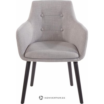 Gray soft chair with armrests (whole, in box)