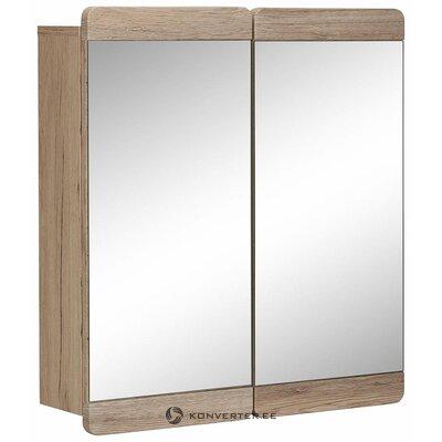 Light brown bathroom mirror cabinet (malea) (box, healthy)