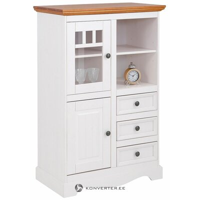White-brown solid wood cabinet (melissa)