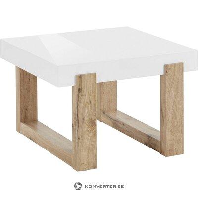 Balta-brūna kafijas galdiņš (ciets)