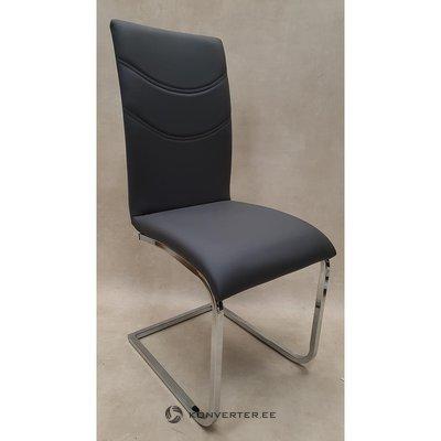 Pilka minkšta kėdė
